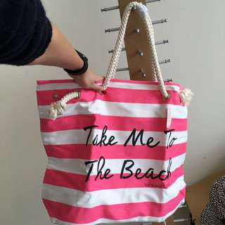 Victoria Secret 'Take Me To The Beach' tote Bag