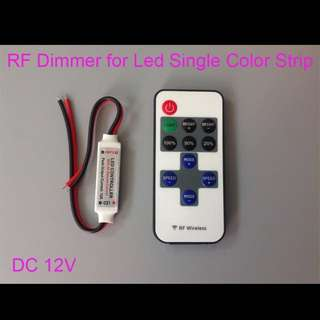 RF Remote Controller DC 12V 11 Keys Mini Dimmer for Led Single Color Strip 5050 3528  home lightings 1pcs