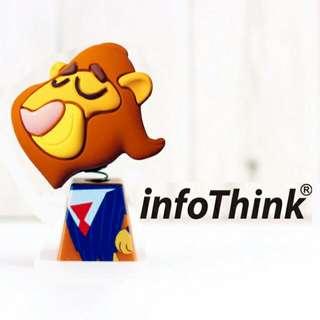 迪士尼 ZOOTOPIA 動物方城市 InfoThink 獅子搖頭造型隨身碟 16GB