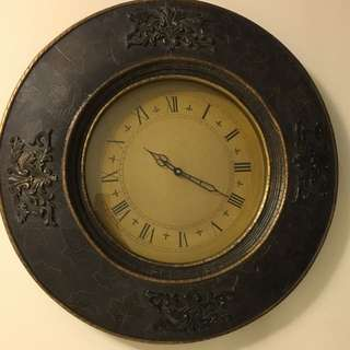 Leather Clock From Bombay