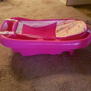 Pink Whale Baby Tub