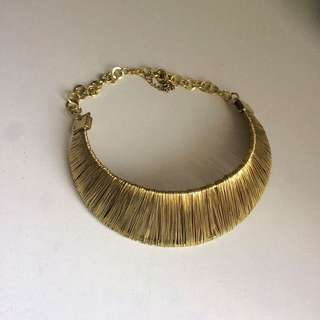 Gold Necklace.