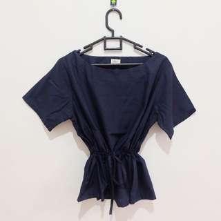 (NEW) Navy Blue Shirt Serut