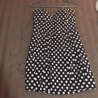 Seductions Polka Dot Dress (size Large)