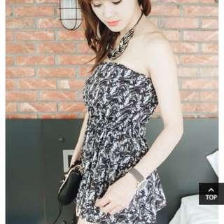 連身平口 褲裙