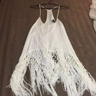 Sirens White Tank Top (size Small-fits Like Medium Or Large)