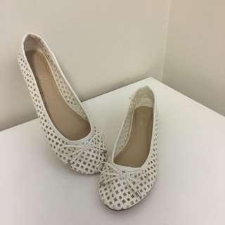 White Flats Size 38/7
