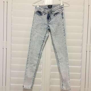 Acid Wash Bardot Skinny Jeans