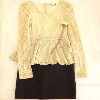 (REPRICE) Peplum Dress