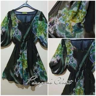 3/4 Sleeved Chiffon Dress