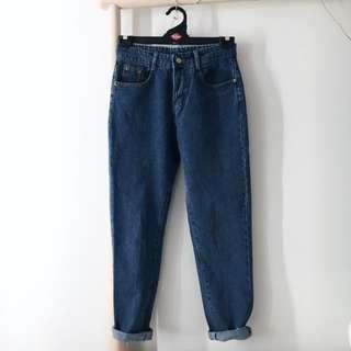 Retro High Waisted Blue Denim Jeans Size 6.5 - 8 / Small Medium