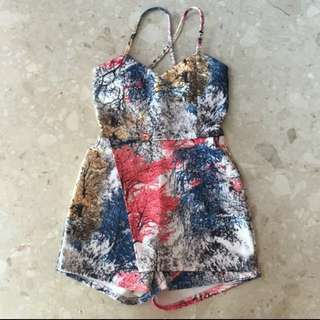 Abstract Printed Romper