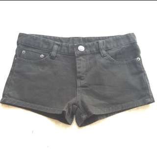 Basic Denim Shorts In Black