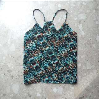 Graphic V Neck Cami Top.