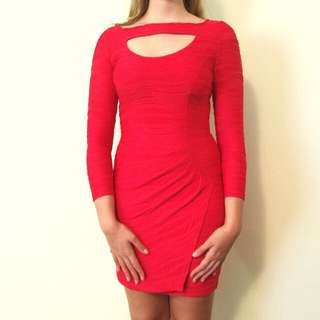 George Gross Red Dress Size 8