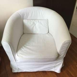 IKEA armchair + White Cover