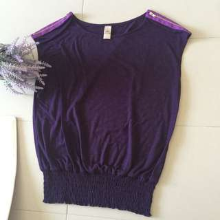 Top With Zipper Shoulders, Free Size
