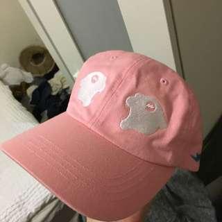 Rare Panther Two Facing Panther Pink Baseball cap