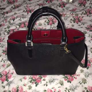 Zara handbag (red Interior/black)