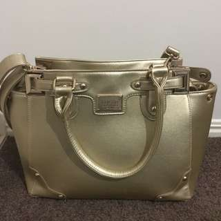 Large GOLD Handbag and Wallet by Colette Hayman