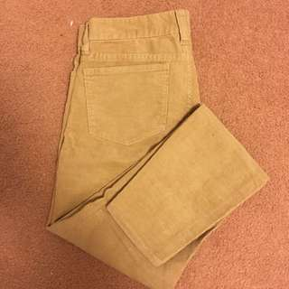 Jcrew Toothpick Corduroy Pants