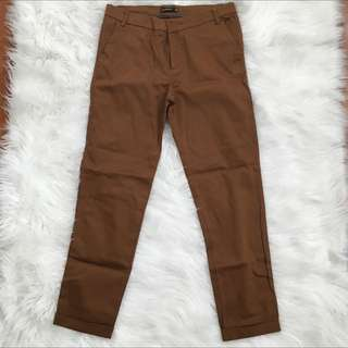 Stradivarius Brown Office Pants