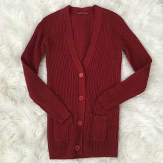 TERRANOVA Brick Red Knitted Cardigan