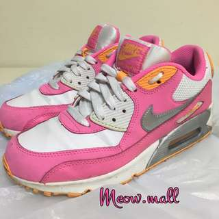🈹正品 NIKE AIR MAX 超靚舒服 粉紅 橙 白 銀 波鞋 增高4cm EU38.5 24cm