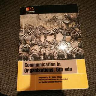 Communication In Organisation 5th Ed
