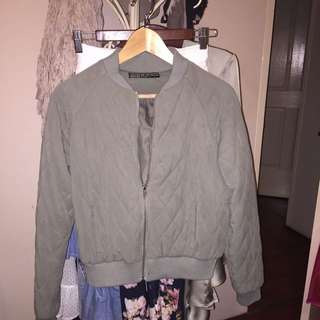Light Khaki bomber Jacket (cotton on)