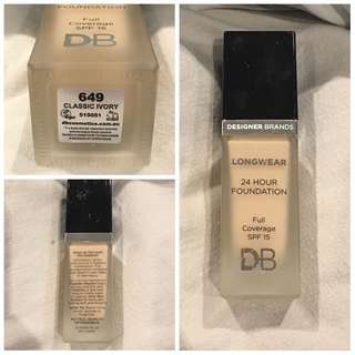 DESIGNER BRANDS FOUNDATION 24 HOUR CLASSIC IVORY