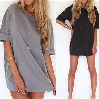 LOOSE A-LINE CASUAL DRESS