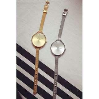 大錶盤鋼帶女錶