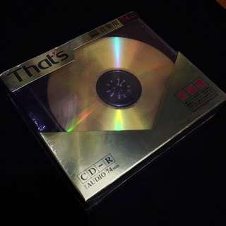 That's CD-R For Audio 74 Mins (5 Dics)