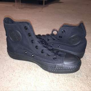 Authentic Brand New Black High-top Converse Sneakers