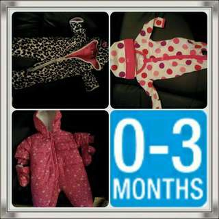 Baby Girl Fall and Winter Jacket And Onesie