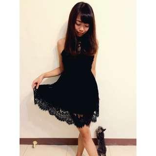 法式美女の蕾絲洋裝