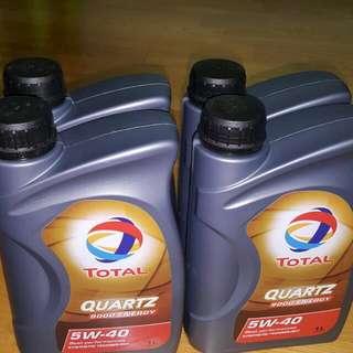 TOTAL QUARTZ 9000 ENERGY 5W-40 4瓶