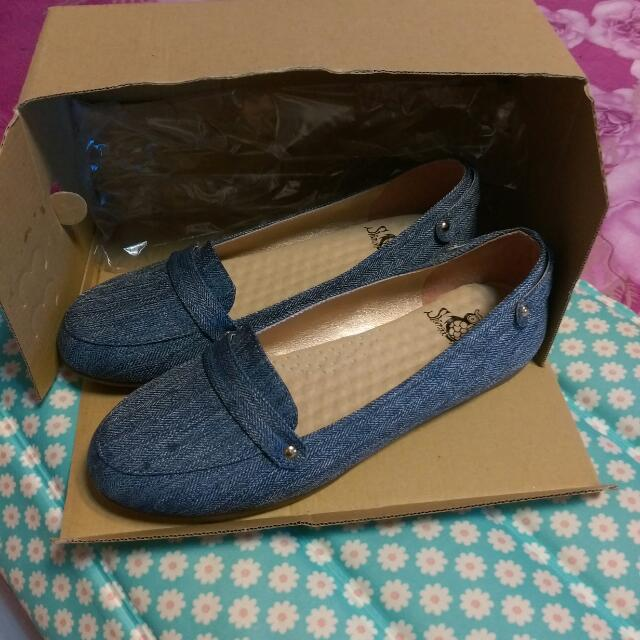 【全新】牛仔布淑女鞋