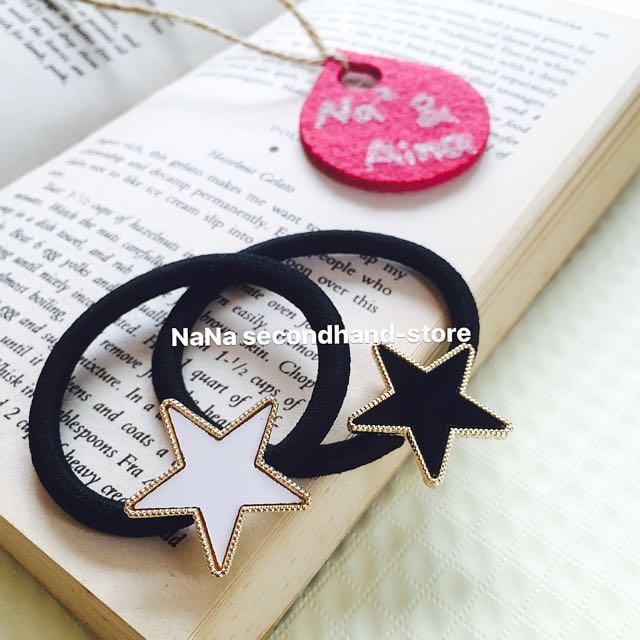 韓版 五角星髮圈 簡約星星髮飾 現貨