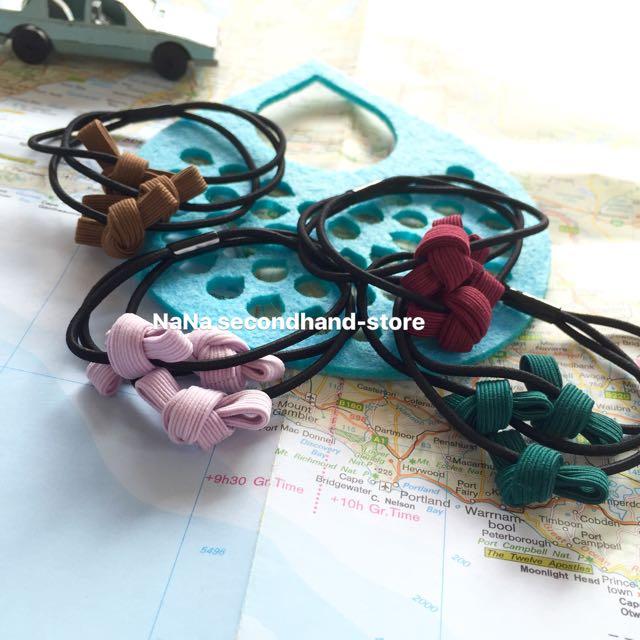 韓版 三個蝴蝶結髮圈 髮飾 手環髮束 現貨