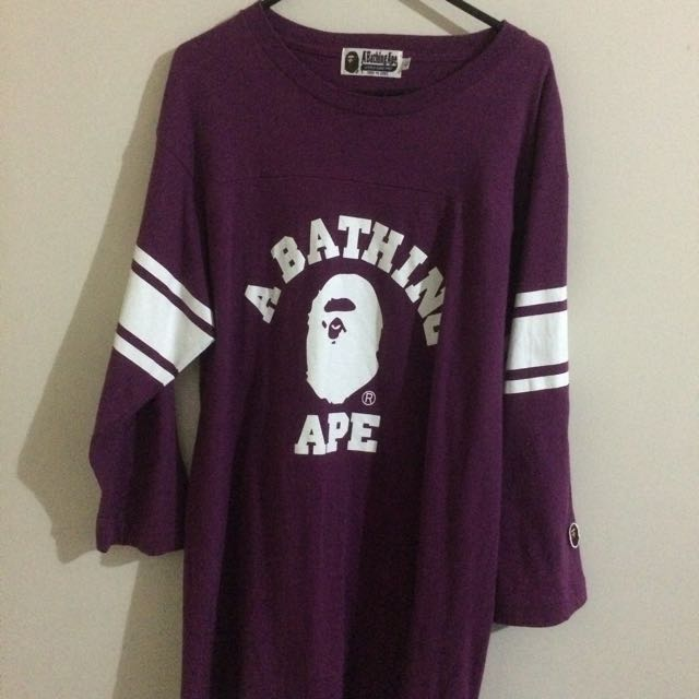 A BATHING APE 3-QUARTER TEE