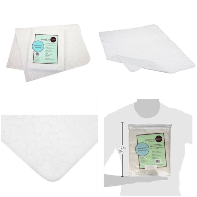 American Baby Company 2858 Waterproof Sheeting Multi Use Pad, Large (White)