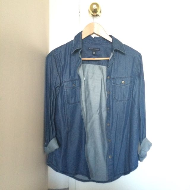 Banana Republic Jean Button Up Shirt