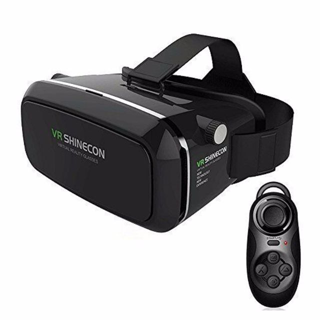 Bluetooth Controller + ShineCon Pro Google Cardboard 3d Vr Box Virtual  Reality Glasses Movies Games For 3 5''-6 0'' Smartphone
