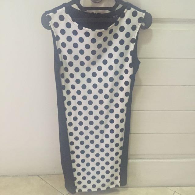 Bodycon Polka Midi Dress