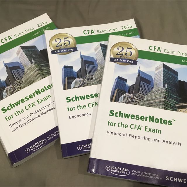 CFA LEVEL 1 Schwesser Notes