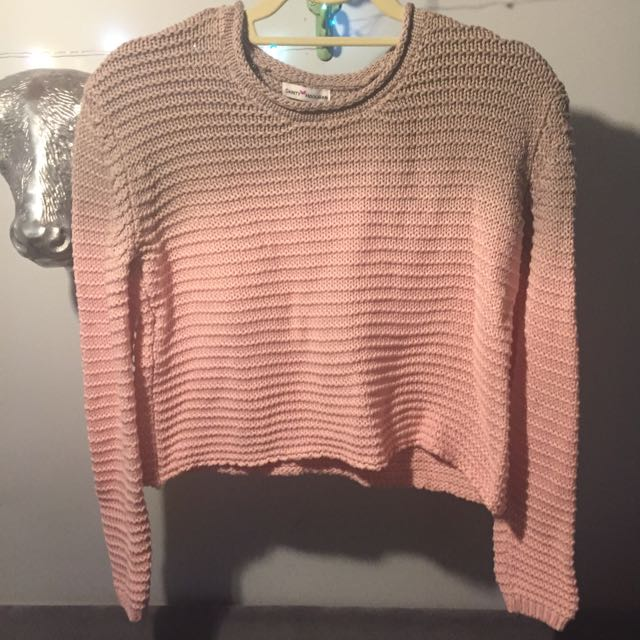 Cropped Boxy Knit Sweater By Dainty Hooligan