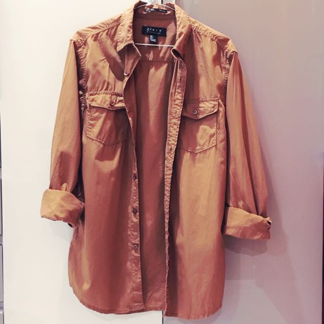 Forever 21 Mens: Brown Button Down Shirt