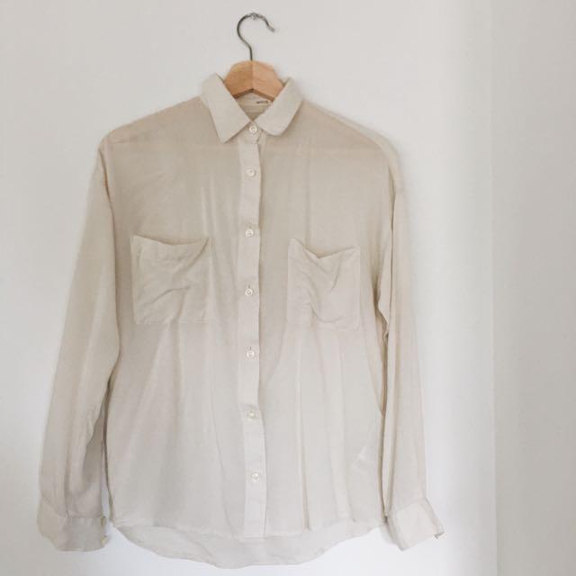 Ivory Sheer Shirt